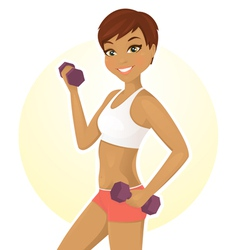Work out vector image vector image