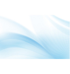 abstract blue wavy with blurred light curved vector image
