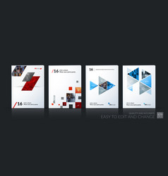 Abstract business template brochure layout vector