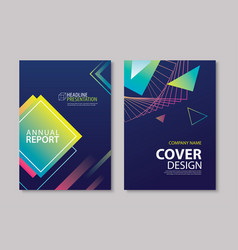 Abstract gradient modern geometric flyer and vector