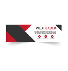 abstract web header design template black red back vector image