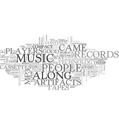 Are records text word cloud concept vector