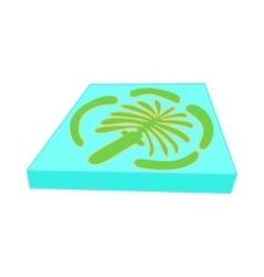 Artificial island Dubai icon cartoon style vector
