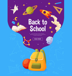 back to school banner template for sale page vector image