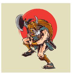 Barbarian warior vector