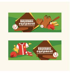 baseball pattern catchers sportswear and vector image