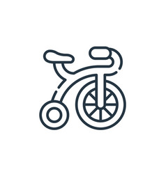 Bicycle icon isolated on white background outline vector