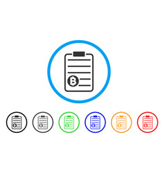 bitcoin price list rounded icon vector image