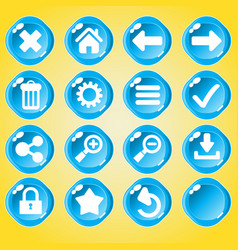 blue ui game buttons vector image