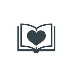 book love concept logotype template design vector image