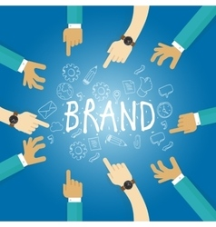 Brand building build company business name vector