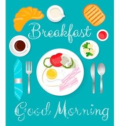 Breakfast green vector image