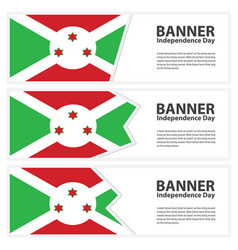 Burundi flag banners collection independence day vector