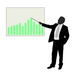 businessman showing presentation vector image vector image