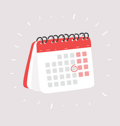 calendar on white vector image