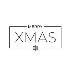christmas frame with merry xmas sign on white vector image