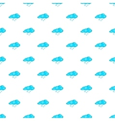 Cloud and snowflake pattern cartoon style vector