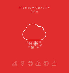 cloud snow line icon vector image