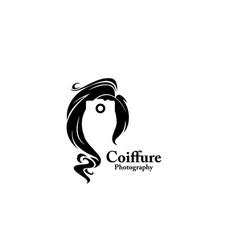 Coiffure photograph beauty logo vector