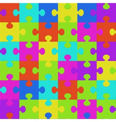 Colorful puzzle seamless vector image