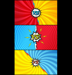 comic duel and fight horizontal banners vector image