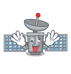 crazy satelite mascot cartoon style vector image