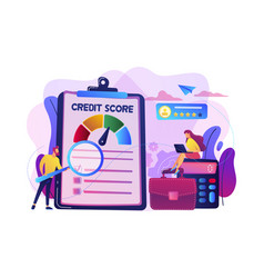 credit rating concept vector image