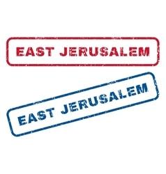 East Jerusalem Rubber Stamps vector