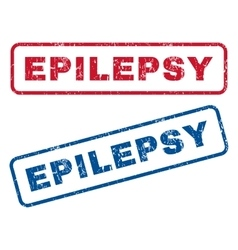 Epilepsy Rubber Stamps vector