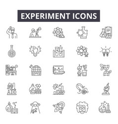 Experiment line icons for web and mobile design vector