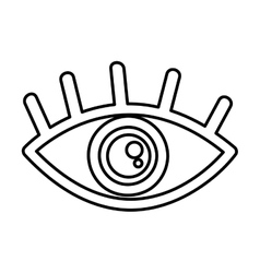 Eye symbol security icon vector