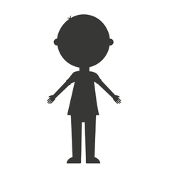 Father silhouette isolated icon vector
