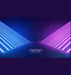 Futuristic neon lights stage floor background vector