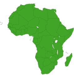 Green Africa map vector image