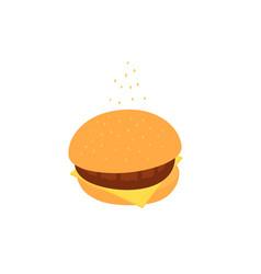 hamburger classic burger american cheeseburger vector image