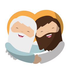 Holy jesuschrist character icon vector