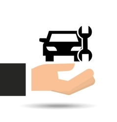 Insurance car support tool graphic vector