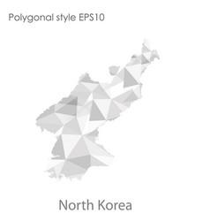 Isolated icon north korea map polygonal vector