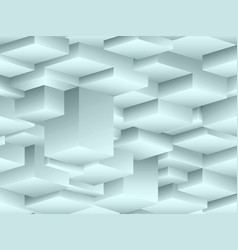 Isometric seamless pattern in the style of cubism vector