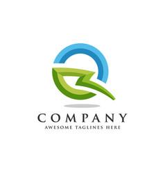 letter q lightning logo icon design template vector image