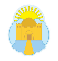Logo depicting a heavenly temple vector