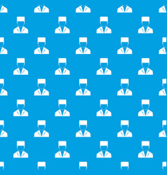 medical doctor pattern seamless blue vector image