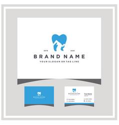 Mountain dental logo design and business card vector