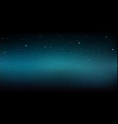night sky background with shiny stars snowfall vector image