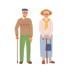 old senior people grandmother and grandfather vector image