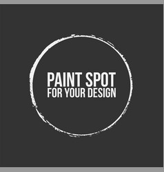 paint circle spot vector image