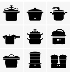 Pressure cookers vector