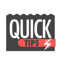quick tips info icons for help tricks vector image