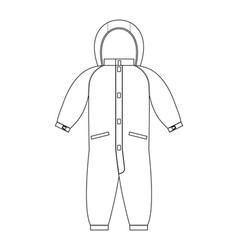 Rompers template scheme children clothing line vector