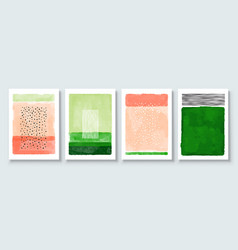 Set abstract hand painted vector